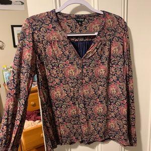Paisley lucky brand long sleeve shirt